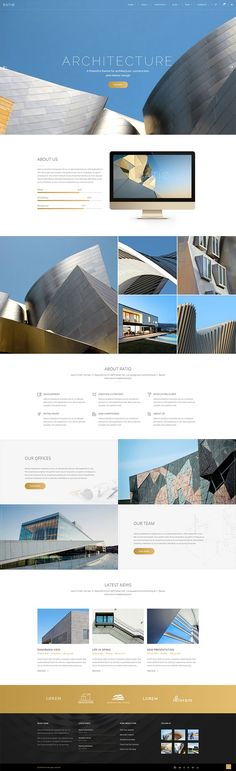 Ratio WordPress theme is packed with 15 amazing homepages, 25 portfolio variants, 40 shortcodes and 10 single project types. Web Design, Layout Design, Interior Design Website, Best Wordpress Themes, Visual Communication, Building A House, Architecture Design, Presentation, Airsoft