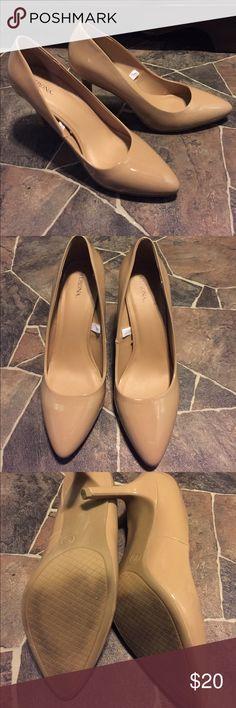 🎃SALE🎃Merona Nude Heels Excellent condition nude heels, just didn't fit me. Only worn once! Merona Shoes Heels