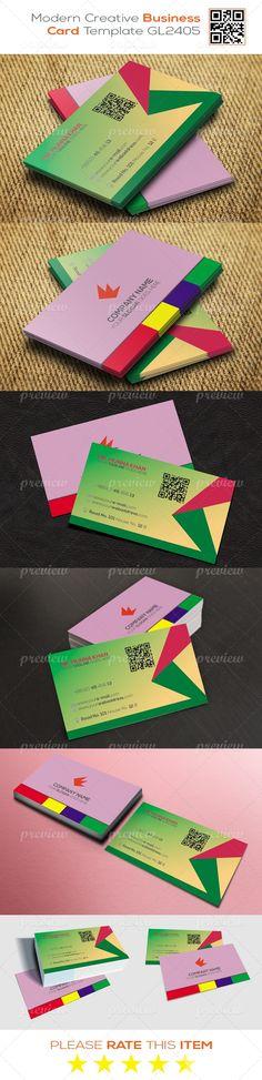 Modern Creative Business Card Template GL2405