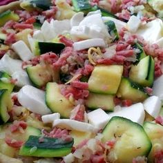 Recette Tarte courgette, lardon, citron, romarin et mozzarella par DELPH37 - recette de la catégorie Tartes et tourtes salées, pizzas