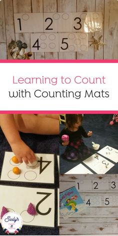 Teach Your Preschooler To Count With This Fun Number Activity. Use Counting Mats. - Teach Your Preschooler To Count With This Fun Number Activity. Use Counting Mats To Help Your Child - Homeschool Preschool Curriculum, Preschool Education, Preschool Kindergarten, Senses Activities, Counting Activities, Preschool Activities, Numbers Preschool, Learning Numbers, Math Numbers