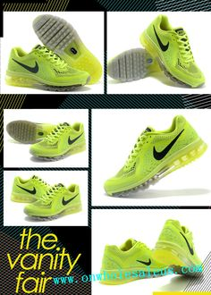 new product 7cf59 43df7 2014 cheap nike air max +2014 men Fluorescent green ash for sale  64  us7-us11  Air  Max