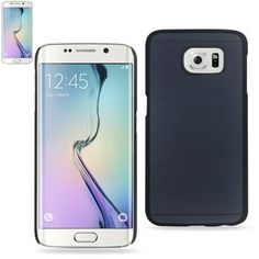Reiko Wood Pattern Protector Cover For Samsung Galaxy S6 Edge Sm-G925P-G925A-G925T-G925V-G925R4-Navy