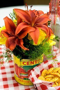 Tomato can vase