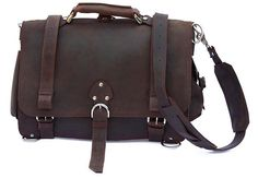 Leather Briefcase Messenger Bag Backpack LARGE - Rich Chocolate Brown Distressed, Rugged. $349.00, via Etsy.