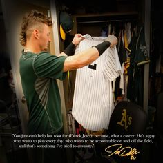 Josh Donaldson on Derek Jeter.  It's no wonder Josh has perfectly filled the void for me after Jeter retired.  My two favourite ball players ever.