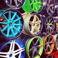 asanti adventus sema 2013 wheels booth so many colors split 5 star multi spoke wheels tuner concave