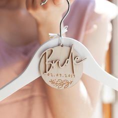 Personalised Bride Hanger Charm – Wedding Hanger – Will You Be My Flower Girl – Bridesmaid Gifts – Hen Party Gift – Wedding Dress Hanger – Decorative hanger Bride Hanger, Wedding Dress Hanger, Wedding Hangers, Bridesmaid Dress Hangers, Bridesmaid Outfit, Bridesmaid Makeup, Hen Party Gifts, Do It Yourself Wedding, Modest Wedding Dresses
