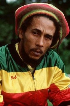 Bob Marley green, gold and red
