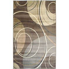 Solaris Gray Area Rug (6'6 x 9'5) | Overstock.com Shopping - The Best Deals on 7x9 - 10x14 Rugs