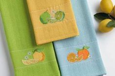 Amazon.com - Citrus Embellished Kitchen Towels, Set of 3 -