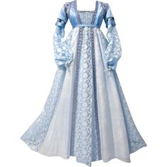 Juliet Capulet Gown - edited by mlleemilee ❤ liked on Polyvore featuring dresses, gowns, gown, long dress, blue ball gown, blue evening dresses, blue evening gown, blue dress and long dresses