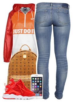 """7/8/2016"" by yeauxbriana on Polyvore featuring NIKE and MCM"