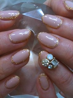 glitter around the nails. this is a wtf were you thinking?