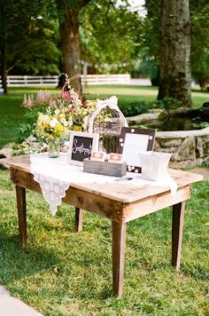 On The Front Porch Looking In: Wedding Guestbook Table Help...