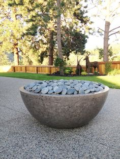 Concrete fire tables and bowls, hand made in Kelowna BC. Fire Pit Bowl, Fire Bowls, Outdoor Fire, Outdoor Decor, Fired Earth, Fire Table, Fountain, Concrete, Modern
