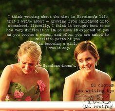 J.K. Rowling on Hermione                                                                                                                                                                                 Mehr