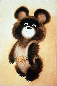 Mishka the bear Russia Olympics mascot :-)