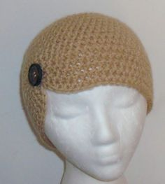 Sexy Fashion Beanie Skull Hat Cap Tan Crochet Teen Adult Women Handmade Gift   eBay
