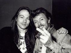 Axl Rose y David Bowie