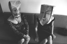 Inge Morath — Saul Steinberg, The Mask Series