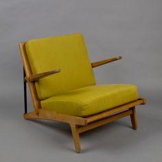 B rge Morgensen Tiger Oak Easy Chair Borge Morgensen c 1955