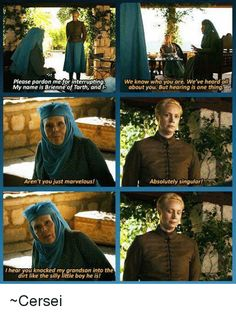 Olenna Tyrell Talks To Brienne lol