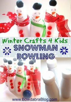 Winter Crafts: Snowman Bowling - fun!