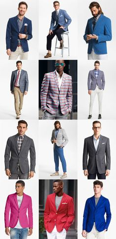 Spring 2013 essential for guys: a bold blazer Gents Fashion, Only Fashion, Suit Fashion, Love Fashion, Sharp Dressed Man, Well Dressed Men, Stylish Mens Outfits, Cool Outfits, Man Closet