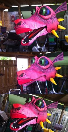 """Beautiful 20ft+ long 3 - 4 person Dragon Puppet made by renowned puppet maker Matt Ficner. Eyes light up, breathes """"smoke"""".  See short video here https://www.dropbox.com/s/ohfb32sk73viedy/Produce.mov Contact julielan@jp2g.com for details Expected Price: $3,000 expires (07/13/15) Pembroke, Ontario"""