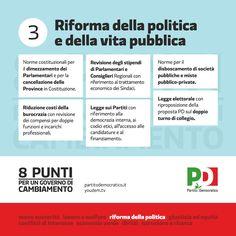 8 punti per il cambiamento   Riforma della politica e della vita pubblica   Partitodemocratico.it