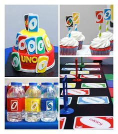 #Uno themed 1st birthday party on Kara's Party Ideas!