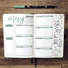 Daily Bullet Journal, Bullet Journal Weekly Layout, Bullet Journal Lettering Ideas, Bullet Journal Notebook, Bullet Journal Aesthetic, Bullet Journal School, Bullet Journal Themes, Bullet Journal Spread, Bullet Journal With Stickers