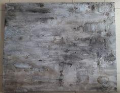 SOLD! :D - Bild Acryl Malerei Strukturen abstrakt modern scarred Grey Spachtel GRAU Kratzer Schwarz 100 x 80 Beton Leinwand Canvas