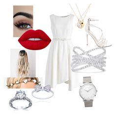 """""""Light and White"""" by jensunicorn on Polyvore featuring Chicwish, Steve Madden, Lime Crime, NLY Accessories, Effy Jewelry and Larsson & Jennings"""