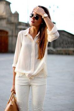 Camicia e pantalone bianco