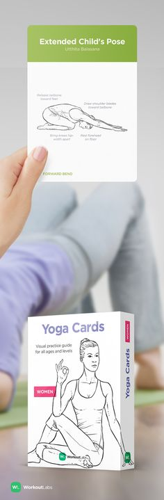 Practice yoga anywhere with Yoga Cards – a visual guide with essential poses, breathing exercises and meditation for beginners and intermediate students of all ages. Visit http://WLshop.co