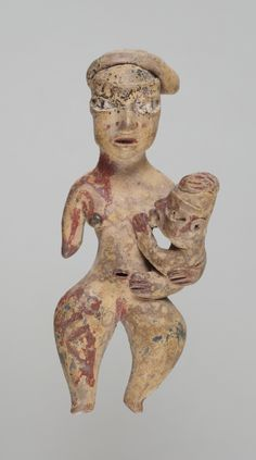 """Maternity"" figure. Early Formative, Tlatilco, ca. 1200 B.C. Place made: Tlatilco, D.F., Central Mexico."