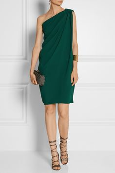Lanvin|One-shoulder crepe dress|NET-A-PORTER.COM