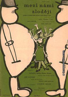 Mezi Námi Zloději (Between Us Thieves) movie poster (Czechoslovakia).