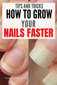 Make Nails Grow, Grow Long Nails, Grow Nails Faster, Nail Growth Tips, Nail Care Tips, Nail Tips, Nail Hacks, Soft Nails, My Nails