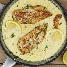 TIP! Deze heerlijke kip in mosterdroomsaus heb je binnen een Hummus, Tapas, Curry, Snacks, Meat, Chicken, Carpe Diem, Ethnic Recipes, Food Ideas