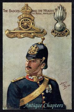 The Badge And Wearer The Royal Artillery Harry Payne Postcard 1901-14