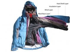 3 and 4 layering system for all weather conditions and mountain activities!