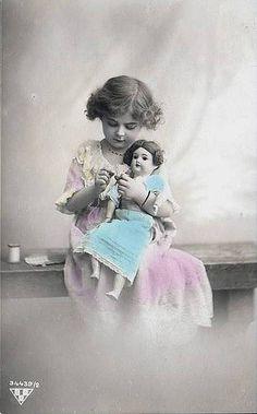 Vintage Postcard ~ Little Girl   Vintage postcard from my co…   Flickr