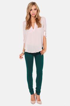 Moto Super Skinny Emerald Green Skinny Jeans