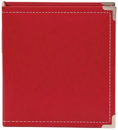 Simple Stories - SNAP Studio Collection - 6 x 8 Faux Leather Album - Red at Scrapbook.com