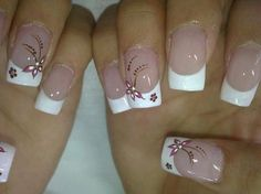 55 Ideas for nails art french bianco French Nail Art, French Nail Designs, Nail Designs Spring, Nail Art Designs, Nails Design, French Manicure Nails, Diy Nails, Cute Nails, Nail Pictures