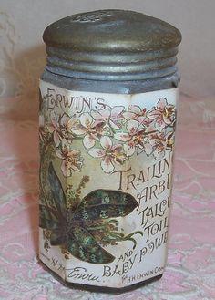 ANTIQUE Erwin's Perfume Sachet Talcum POWDER by VintageFlowers