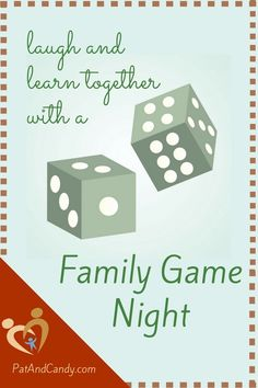 """Whether you're playing with a big group of friends, your immediate family, or doing it during """"date time"""" with the kiddos or your hubby, family gamy night is an enjoyable, low-stress way to start some good conversations and build relationships."""